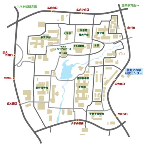 広大周辺地図