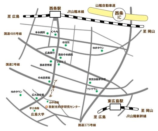 西条周辺地図
